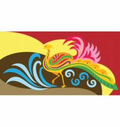 phoenix decorative vector image