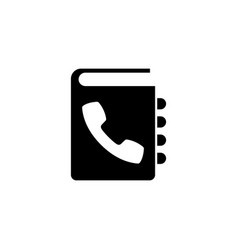 phone book flat icon vector image