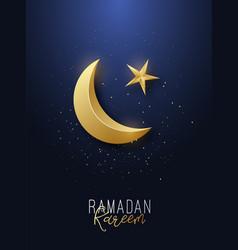 ramadan kareem greeting banner islamic symbol vector image