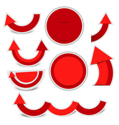 red paper circle with light and shadow vector image