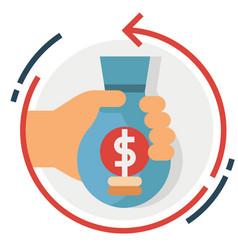 Return investment flat vector