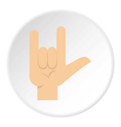 Rock gesture icon circle vector