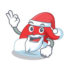 santa christmas hat character cartoon vector image