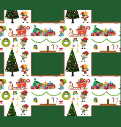 seamless background design with christmas elements vector image