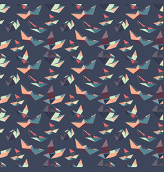 seamless pattern of paper boats vector image