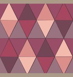 Seamless triangles crimson vector
