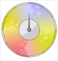 Season indicator vector image