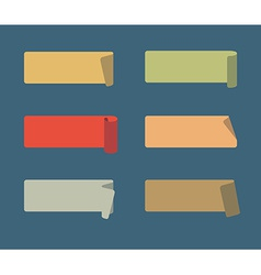 Set colored adhesive scotch tapes vector
