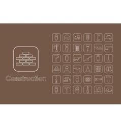 Set of construction simple icons vector image