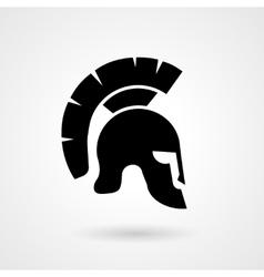 Silhouette an ancient roman or greek helmet vector