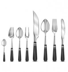 silver tableware's vector image