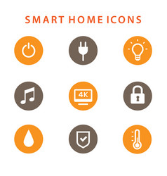 Smart home icons set automation concept vector