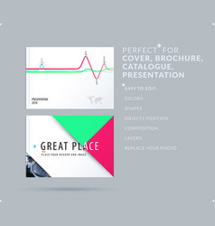 soft design presentation template with colourful vector image