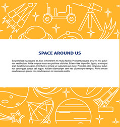 space elements background in line style with place vector image