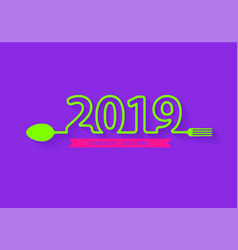Spoon and fork restaurant food and drink icon vector