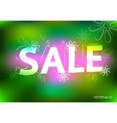 Spring sale marketing effect neon retro background vector