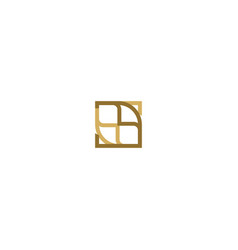square decorative abstract logo vector image