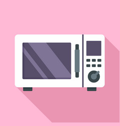 Steel microwave icon flat style vector