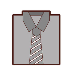 Stylish folded shirt icon vector