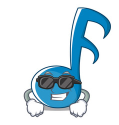 Super cool music note character cartoon vector