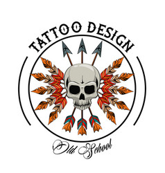 Tattoo studio design vector