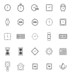 Time line icons on white background vector