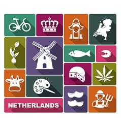 traditional symbols netherlands vector image