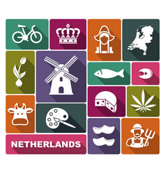 Traditional symbols of the netherlands vector