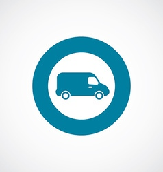van icon bold blue circle border vector image
