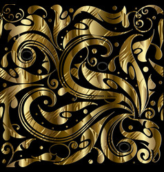 vintage gold ornamental 3d seamless pattern vector image