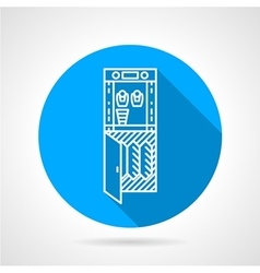 Water purifier blue round icon vector
