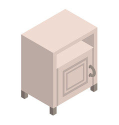 White nightstand icon isometric style vector