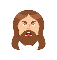 Angry Jesus Christ Unhappy with Son of God vector image vector image