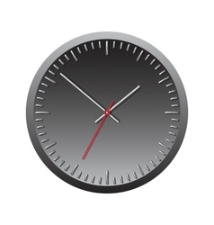 Black wall mechanical clock vector image vector image