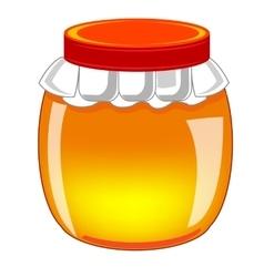 Capacity with honey vector image