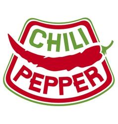 chili pepper label vector image