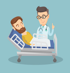 doctor visiting patient vector image