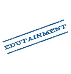 Edutainment Watermark Stamp vector image