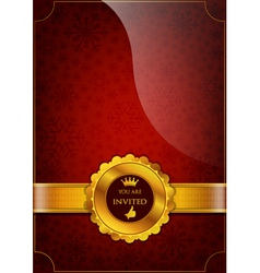 Red Invitation Design vector image