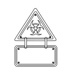 silhouette metal biohazard warning notice sign vector image vector image