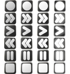 clean white control panel icons vector image