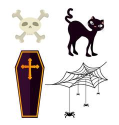 happy halloween design elements vector image