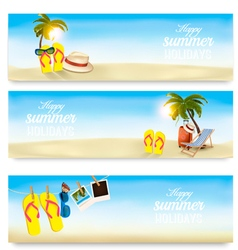 Summer holidays banners Vacation memories vector image vector image