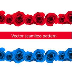 vintage horizontal seamless vignette border set vector image
