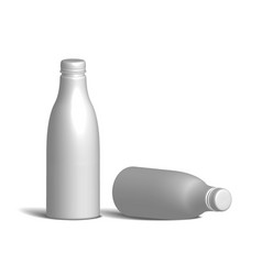 white realistic plastic bottle vector image