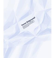Wrinkled Paper Background vector image vector image