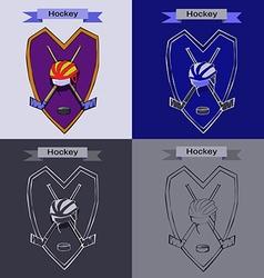 Hockey Badge Emblem Symbol vector image