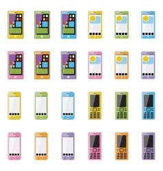 Blank smartphone vector image