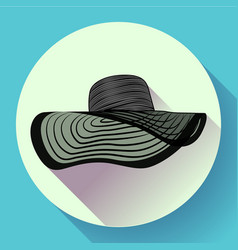 womans summer hat icon vector image vector image