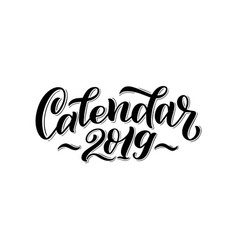 2019 calendar cover for vector